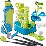JOYIN Club Golf Comprehensive Toy Set with 3 Golf Clubs, 3 Club Heads, Deluxe Toy Golf Bag, 15 Training Toy Golf Balls and Ac