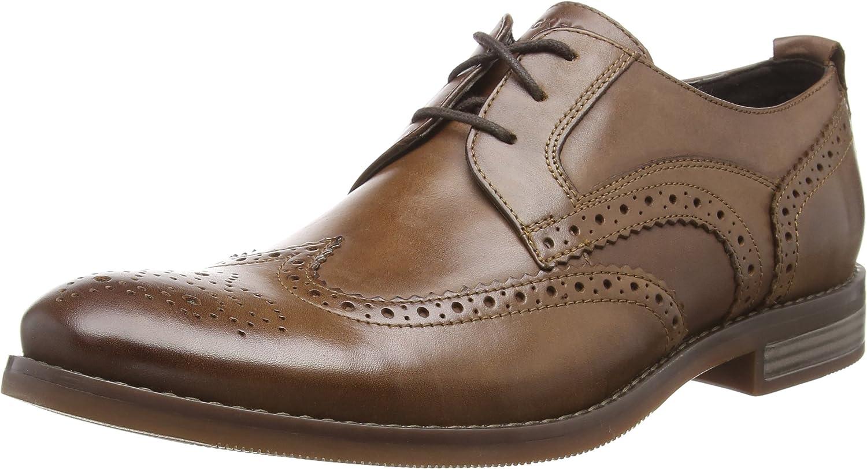 Rockport Wynstin Shoe, Zapatos de Cordones Brogue para Hombre