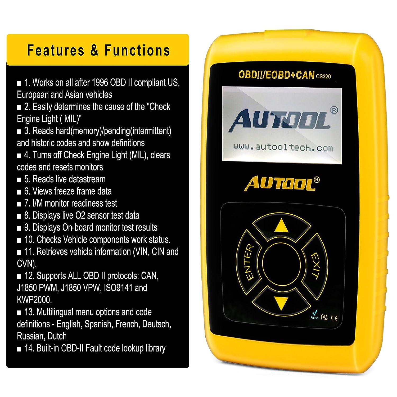 Lector de código de avería de motor Autool CS320 La herramienta de ...