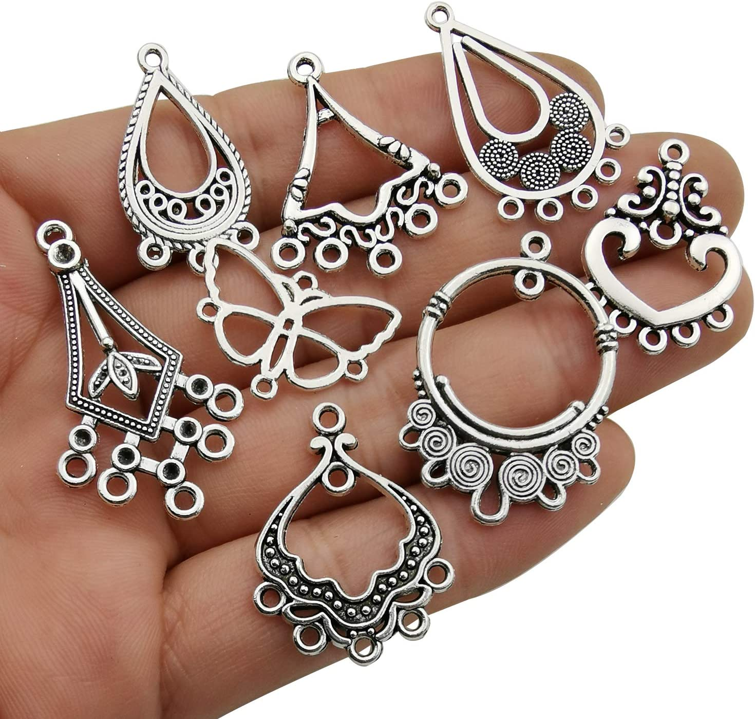 lady-muck1 3mm 60 Good Quality Silver Metal Charm Hanger Beads Inner Hole