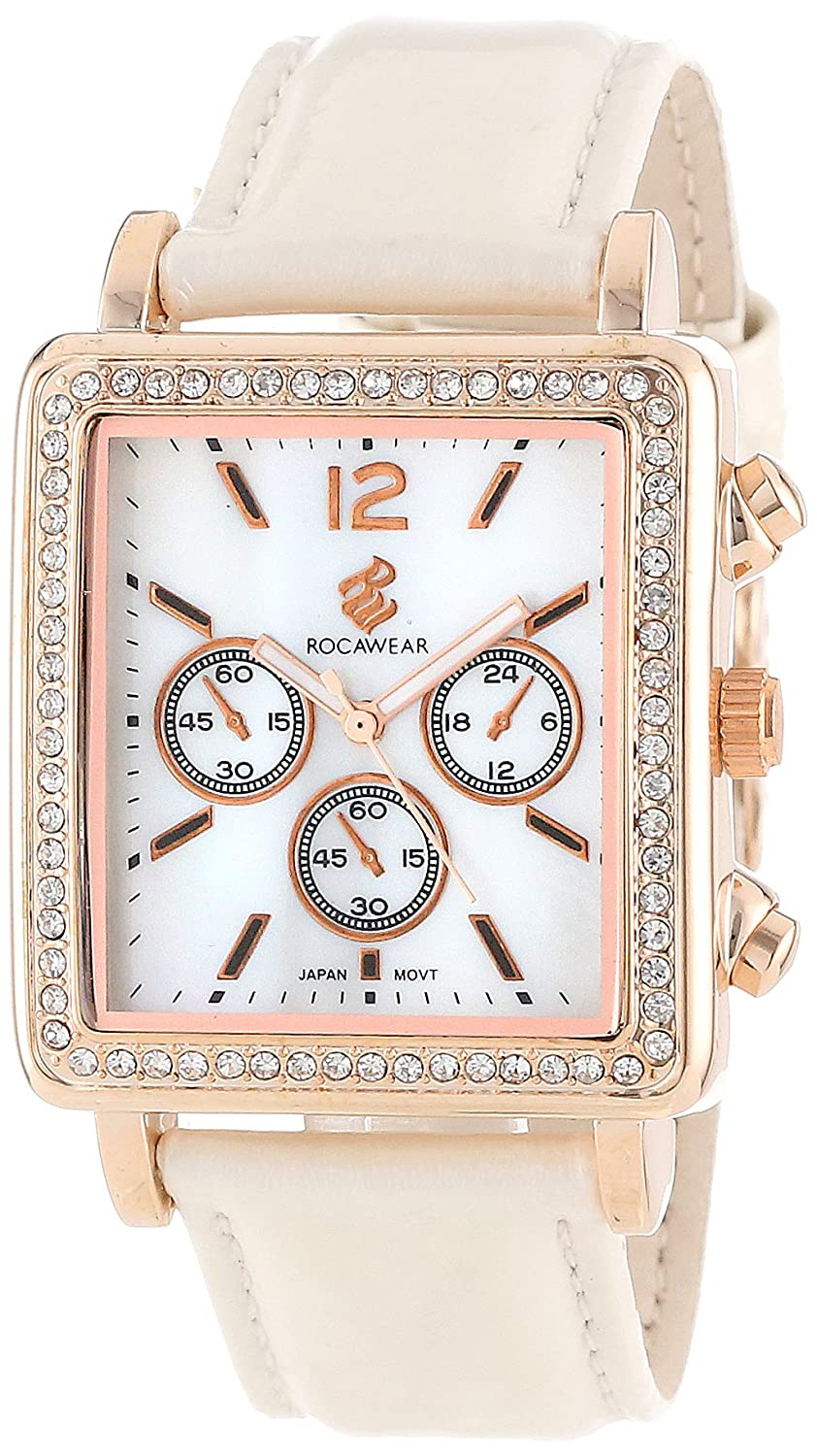 Amazon.com: Rocawear Womens RL0103RG1-027 Stylish Bracelet Enamel Bezel Watch: Watches