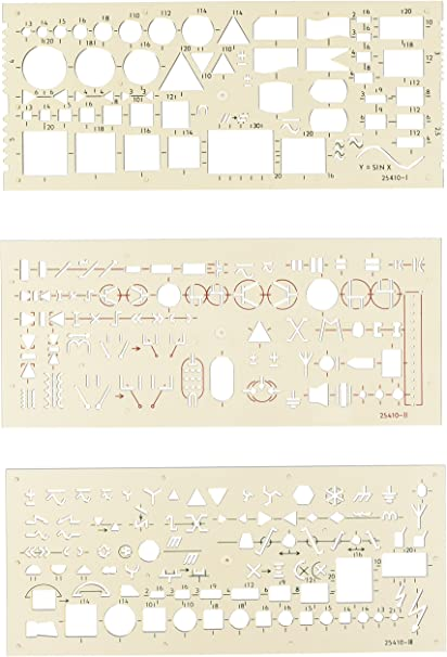 155 x 155 x 1,3 mm Standardgraph 8191 Schablone Stano-Winkel