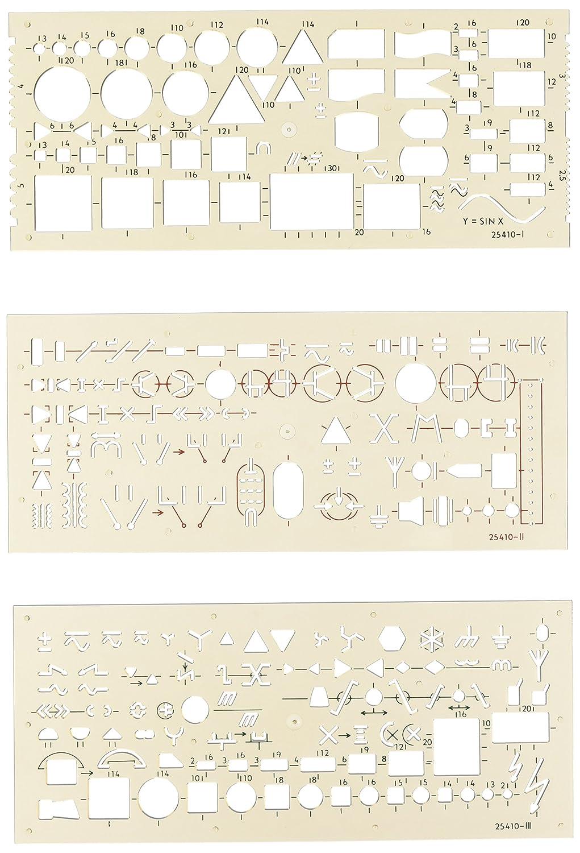 KOH-I-NOOR 703071 Schablone Elektro - 3er Set: Amazon.de: Bürobedarf ...