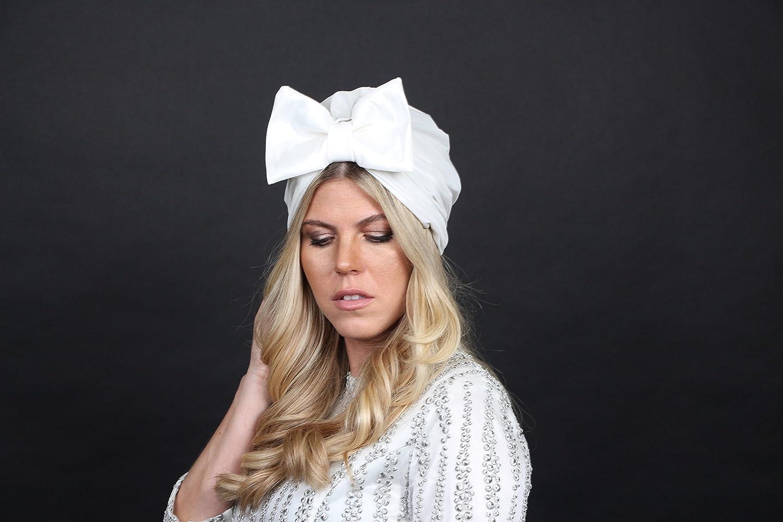 Amazon.com: turban bow hat, white turban hat, fashion turban, hair turban, turban headwrap, turban hijab: Handmade