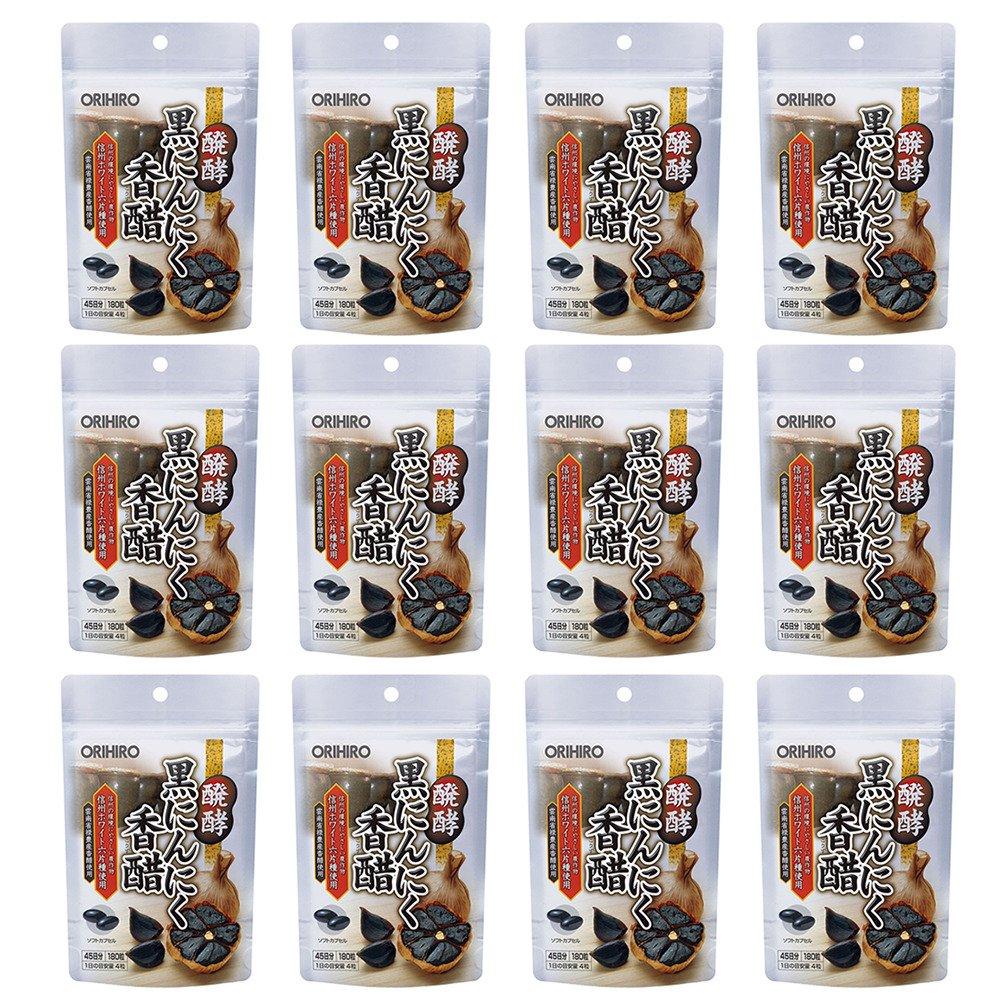 オリヒロ 醗酵黒にんにく香醋 180粒 (180粒×12)   B0771446D2