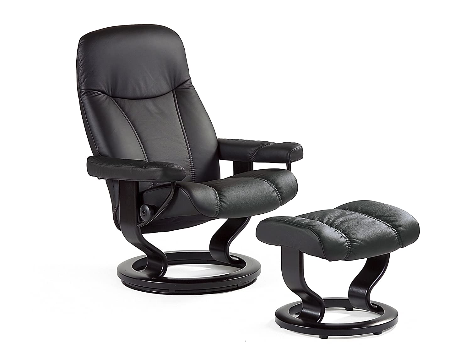 original stressless consul m relaxsessel mit hocker. Black Bedroom Furniture Sets. Home Design Ideas
