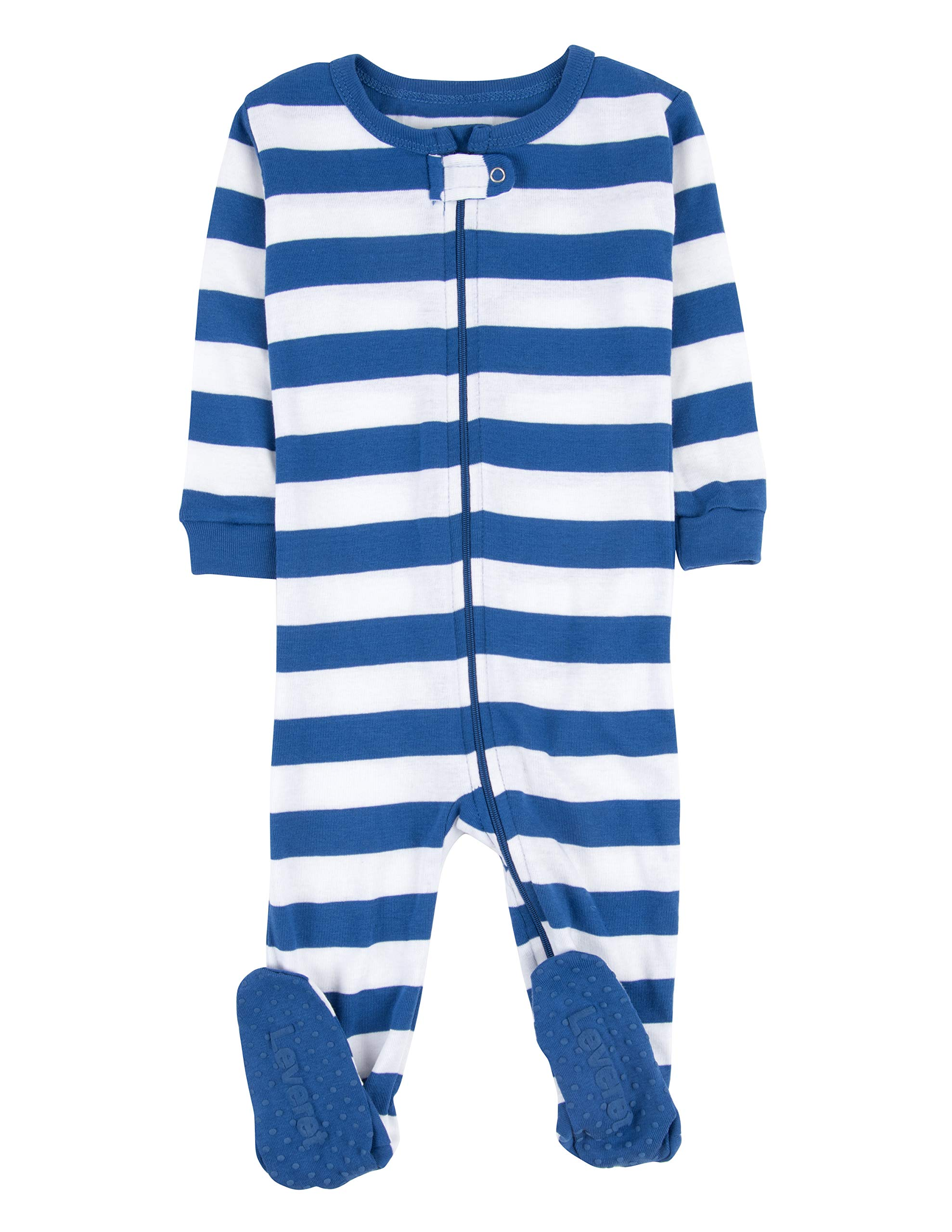 Leveret Striped Footed Pajama Sleeper 100% Cotton