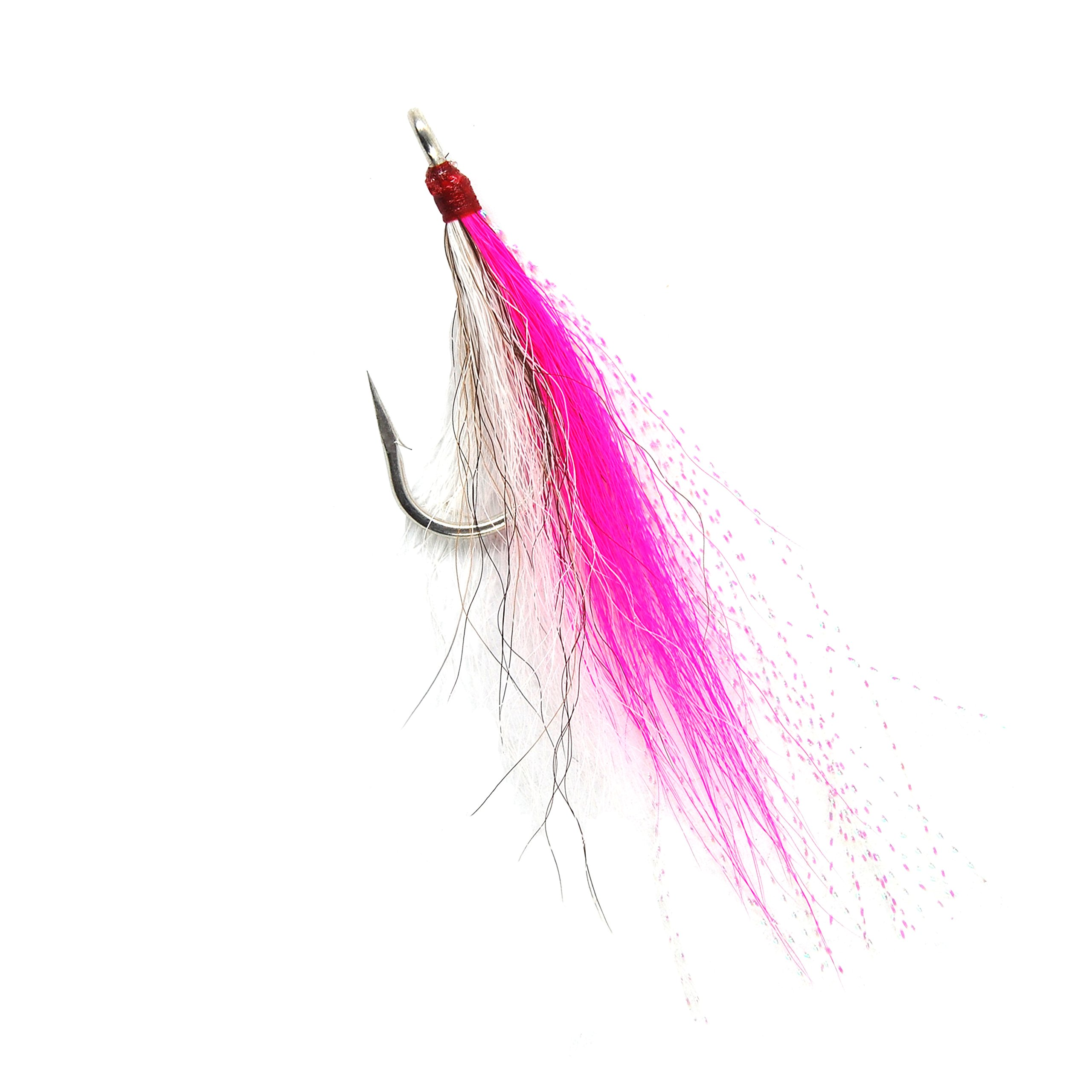 Shaddock Fishing Bucktail Teasers Fishing Hook Fluke Rig Saltwater Fishing jig Fishing Plugs Lures 6pcs (Pink) by Shaddock Fishing
