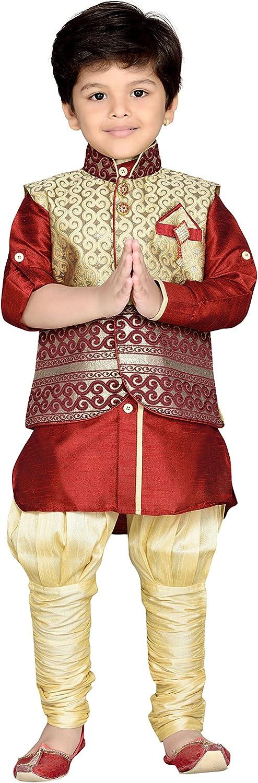 AJ DEZINES Indian ethnischen Kurta-Pyjama-Weste des Jungen Set