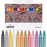 Premium Acrylic Paint Pens Permanent Markers - Set of 12 STA Mondi Medium Point Tip Markers for Rock Painting, Mug Design, Ceramic, Glass, Metal, Wood, Fabric, Canvas, Christmas Gift DIY Craft Kids