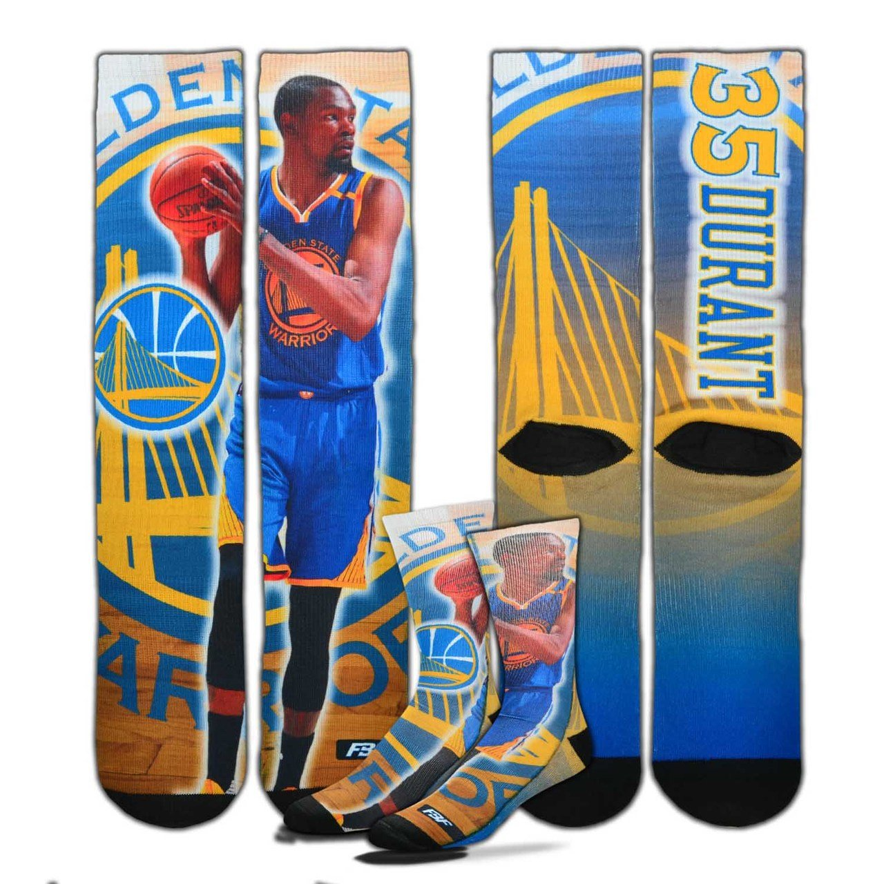 45e1750bbc4e Amazon.com   Kevin Durant Golden State Warriors Center Court II Socks (3  Sizes Available)   Sports   Outdoors
