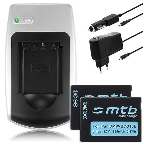 Cargador + 2 Baterías DMW-BCG10E Compatible con Panasonic Lumix DMC-TZ27 TZ30 TZ31 TZ65 ZR1 y mas - Ver Lista de compadibilidad