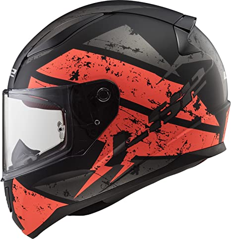 Ls2 Ff353 Rapid Deadbolt Helm Schwarz Matt Orange Xxxl 65 66 Auto