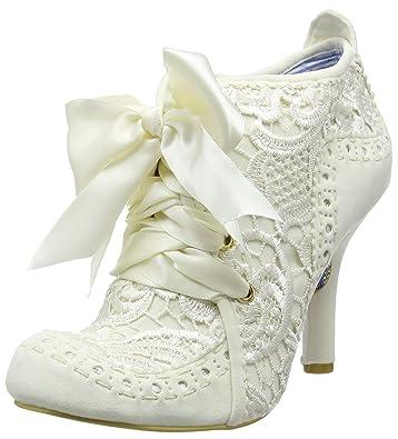 dde85d8597 Irregular Choice Womens Abigails Third Party Evening Lace Up Mid Heels -  Cream - 7-