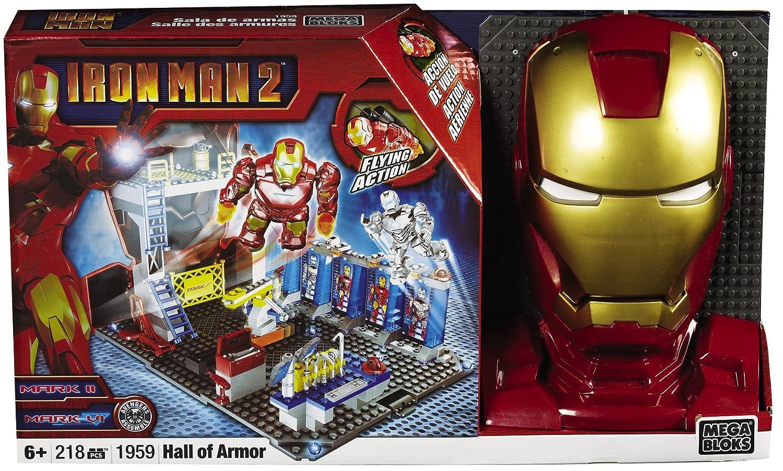 Mega Bloks Ironman 2  Hall of Armor Playset Mattel 1959 X3-XHDH-GXLR
