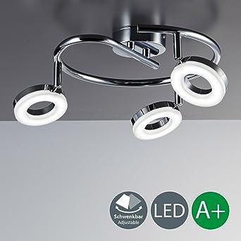 LED Deckenleuchte I 3 Flammige Spiralförmige Decken Lampe I Runde Platinen  I Dreh  U0026