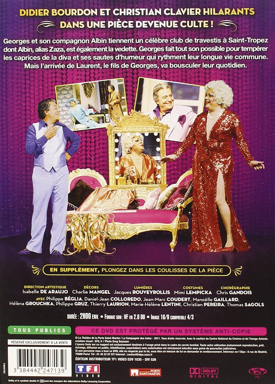La Cage aux folles [Francia] [DVD]: Amazon.es: Christian Clavier ...