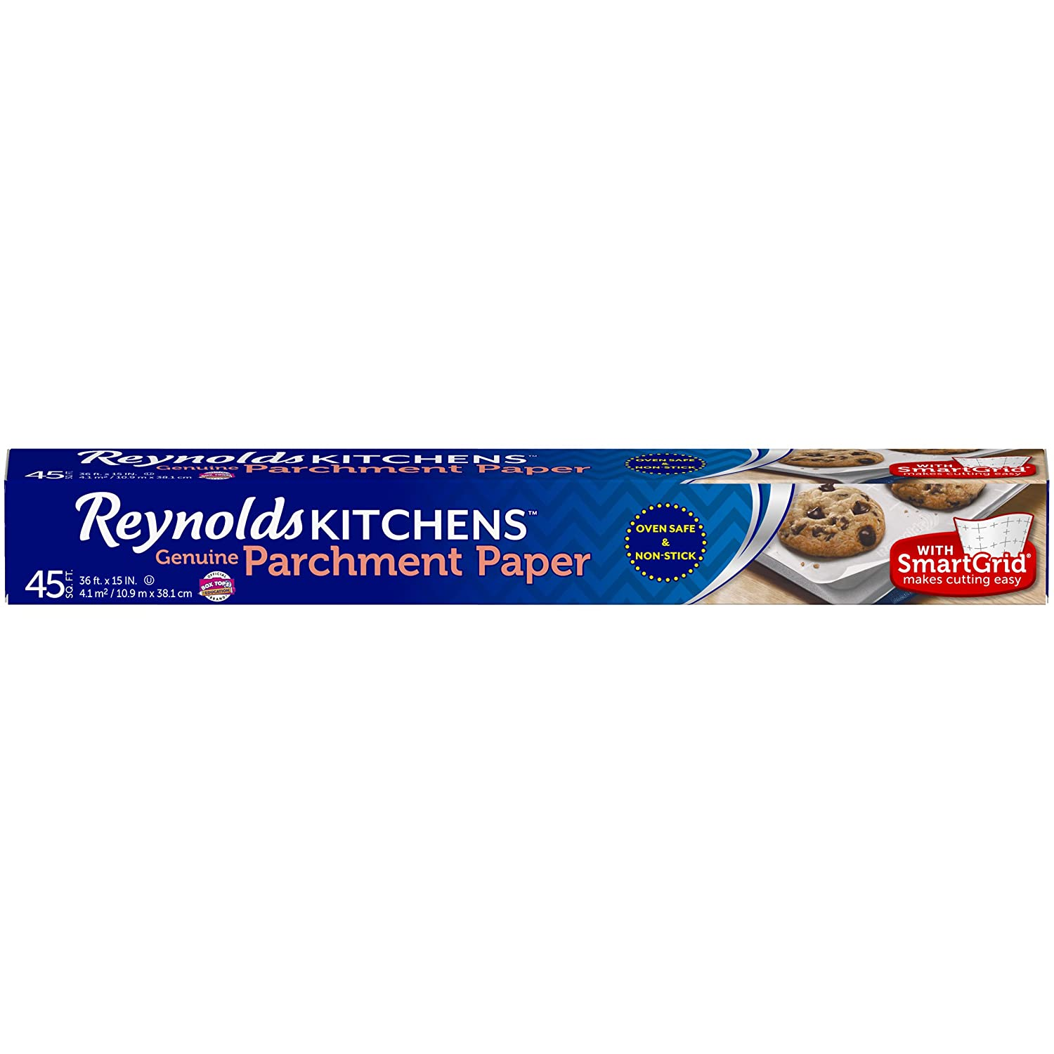 Reynolds Kitchens Parchment Paper (SmartGrid, Non-Stick, 50 Square Foot Roll, 3 Count) Reynolds Consumer Products