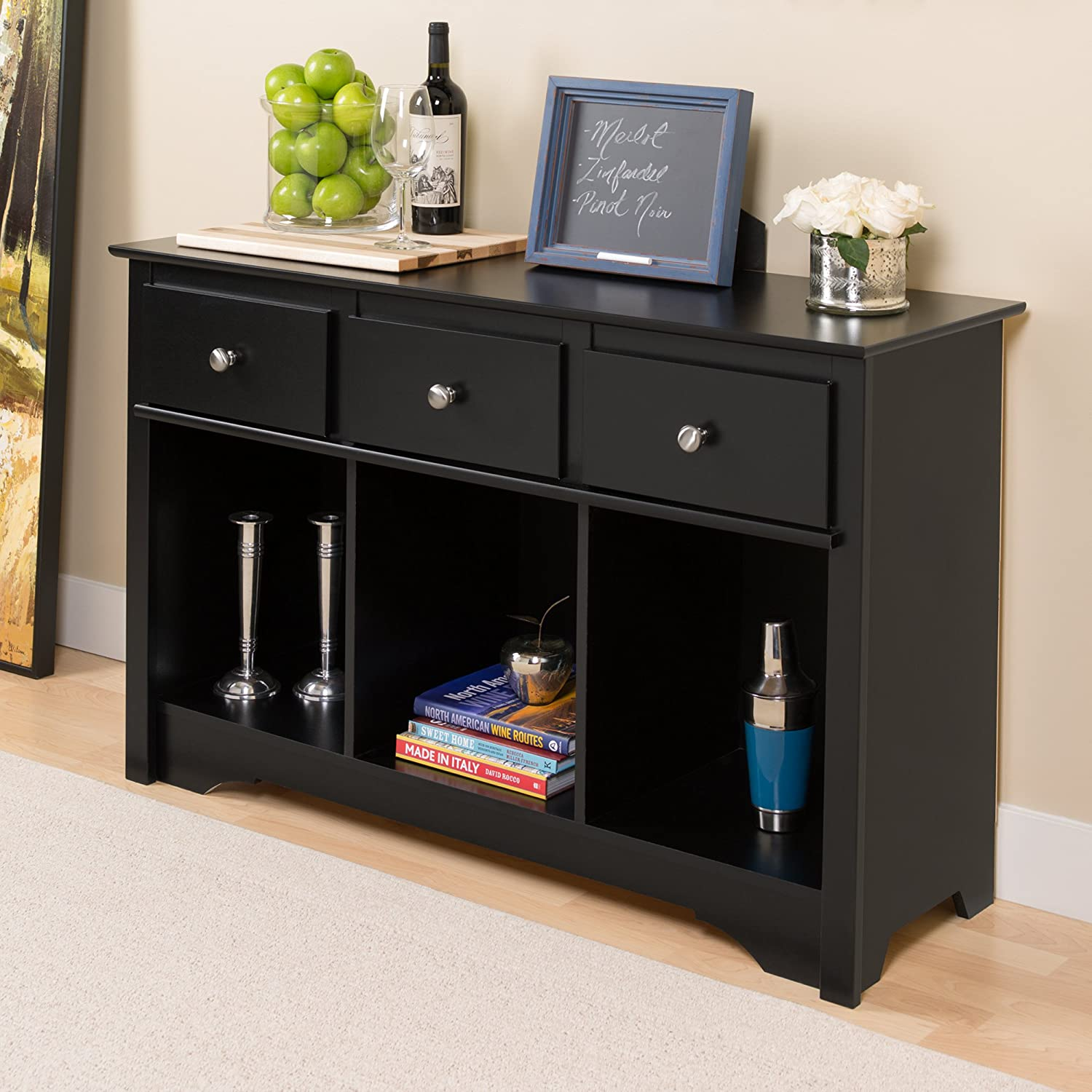 Amazon.com: Black Living Room Console: Kitchen & Dining
