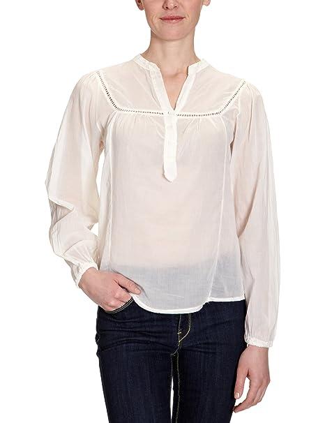 Cross - Blusa con cuello mao de manga 3/4 para mujer, talla 40