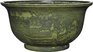 """Venetian Deep Bowl 12.5"""" Planter, Green Granite"""
