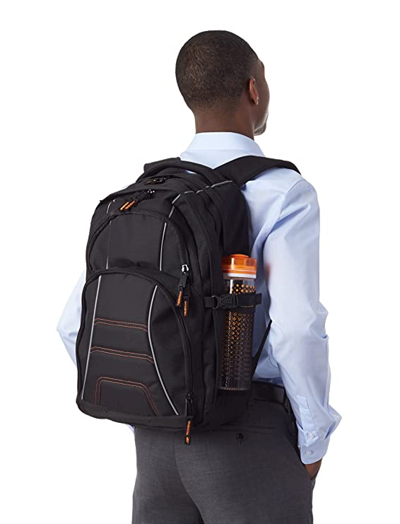 256092a5d2 Amazon.com  AmazonBasics Backpack for Laptops up to 17-inches  Computers    Accessories