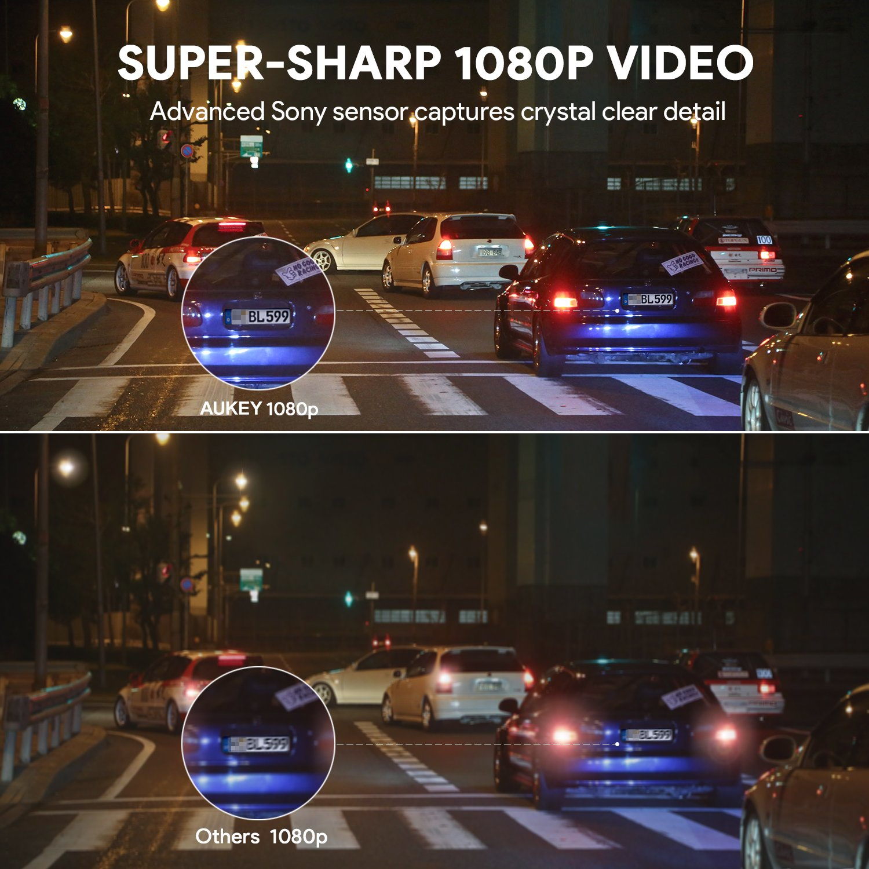Aukey Dash Cam Full Hd 1080p Car Camera 6 Lane 170 Supercapacitor Audio Wiring Electronics