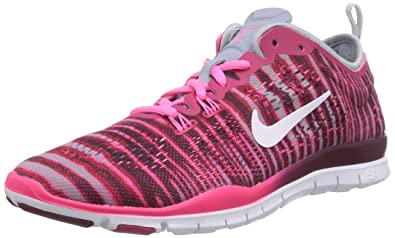 huge selection of 87ad9 91b86 NIKE womens Free 5.0 Tr Fit 4 Prt Trainer - Red (Fchs Frc White