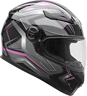 Vega Helmets AT2 Street Motorcycle Helmet for Men & Women – DOT Certified Full Face Motorbike