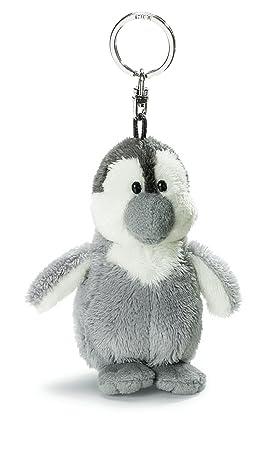 NICI - Llavero de Peluche pingüino, Color Gris Claro (33160)