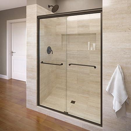 Basco Infh05a5870xpor Infinity Semi Frameless Sliding Shower Door