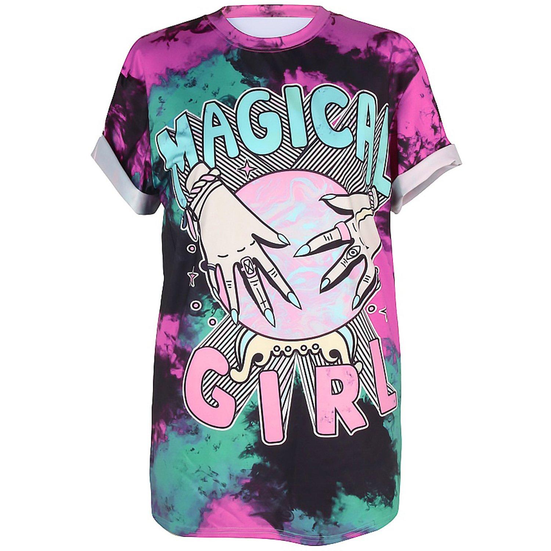 COUSIN CANAL Uomo Donna Punk Funky T-Shirt Manica Corta 3D Gothic EDM Costume Magliette