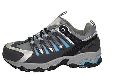 ac6b3d88042fa Hytest Women's Internal Metguard Electrical Hazard,Non-Slip Steel-Toe  Athletic Safety Shoe (7.5W US, Blue)