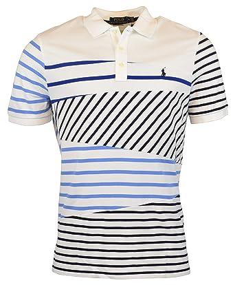 6123144f4d613 Image Unavailable. Image not available for. Color: Polo Ralph Lauren Men's  Classic Fit Mesh Striped Patchwork Polo Shirt - S - Striped Patchwork