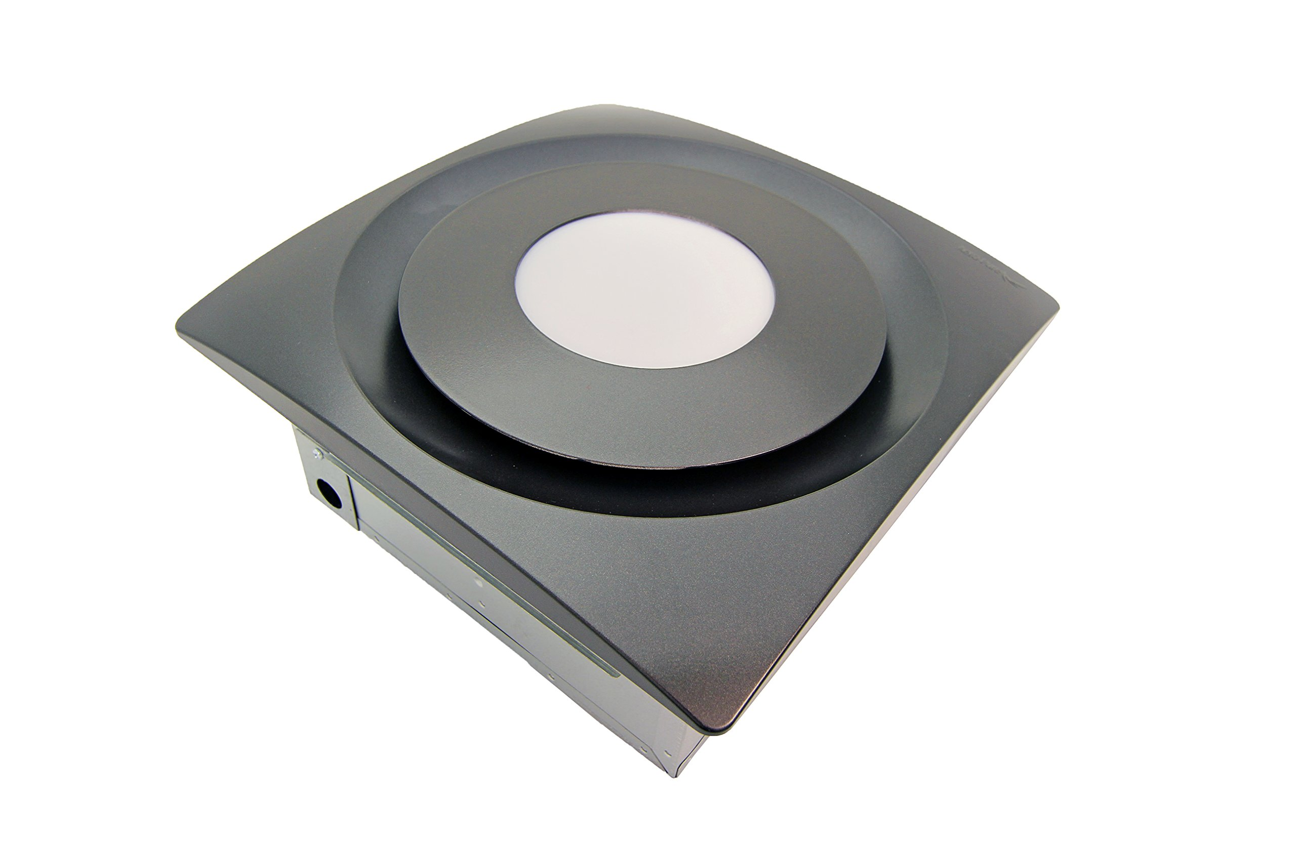 "Aero Pure 10W 3000K AP90-SL OR Slim Fit Bathroom Fan with LED Light, Oil Rubbed Bronze Finish - Slim Fit Housing Fits Into 2"" X 6"" Ceiling Joists Or Greater 10W, 3000K Led Light Pad Provides Warm Natural Light ETL/CETL Listed For Use In Shower/Tub Shower Enclosure When Used With A Gfci Circuit Breaker - bathroom-lights, bathroom-fixtures-hardware, bathroom - 81pT2K4laPL -"