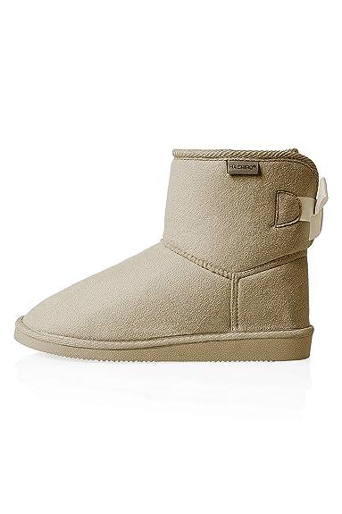 Hachiro Damen Schlupfstiefel Stiefeletten Stiefel Boots  Amazon.de ... aa7752effe