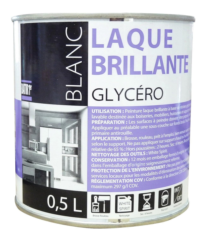 Glycero Salle De Bain ~ peinture laque glyc ro batir 1er bo te 0 5 l brillant blanc