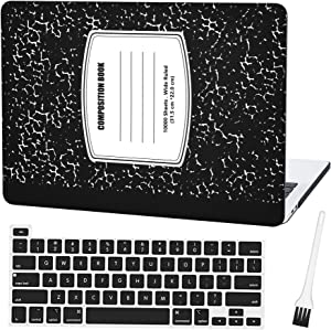 "MacBook Pro 16 inch Case A2141 2019 Ultra Slim Hard Shell Case Cover Sleeve with Silicone Keyboard Cover (MacBook Pro 16"" with Touch Bar and Touch ID) and Dust Brush (Composition Notebook)"
