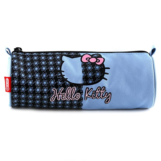 Hello Kitty 11-1944 - Estuche de lápices Redondo, Color Azul Claro: Amazon.es: Equipaje