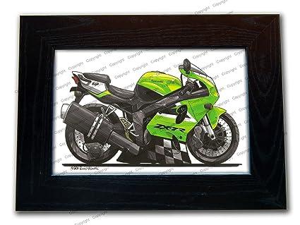 Kawasaki ZX7R Ninja moto oficial KOOLART calidad - cuadro ...