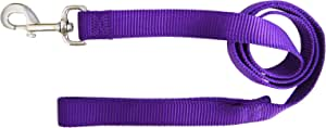 Hamilton Single Thick Nylon Dog Lead, 1-Inch by 4-Feet, Purple