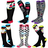 efa6f6868be TeeHee Novelty Cotton Knee High Fun Socks 5-Pack for Women (Cats) at ...