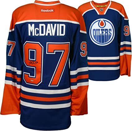 Image Unavailable. Image not available for. Color  Connor McDavid Edmonton  Oilers Autographed Blue Reebok EDGE Jersey ... 230da5a6e