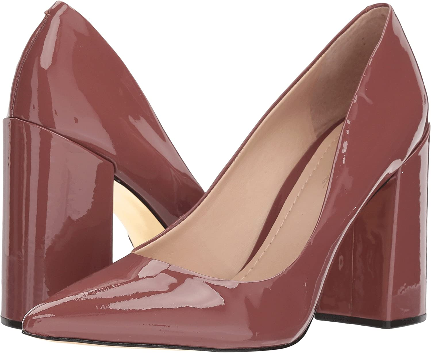 Massimo Matteo Womens Block Heel Pump B075ZYCJ62 6 B(M) US|Dusty Rose Patent