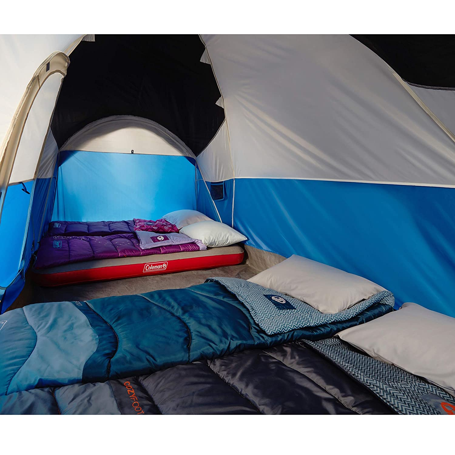 Coleman 8-Person Tent for Camping Elite Montana Tent with Easy Setup