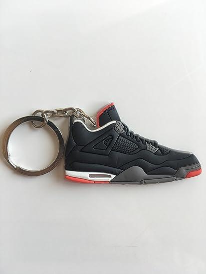 32594813c4c73d Amazon.com   Jordan Retro 4 Bred Sneaker Keychain Shoes Keyring AJ 23 OG    Sports   Outdoors