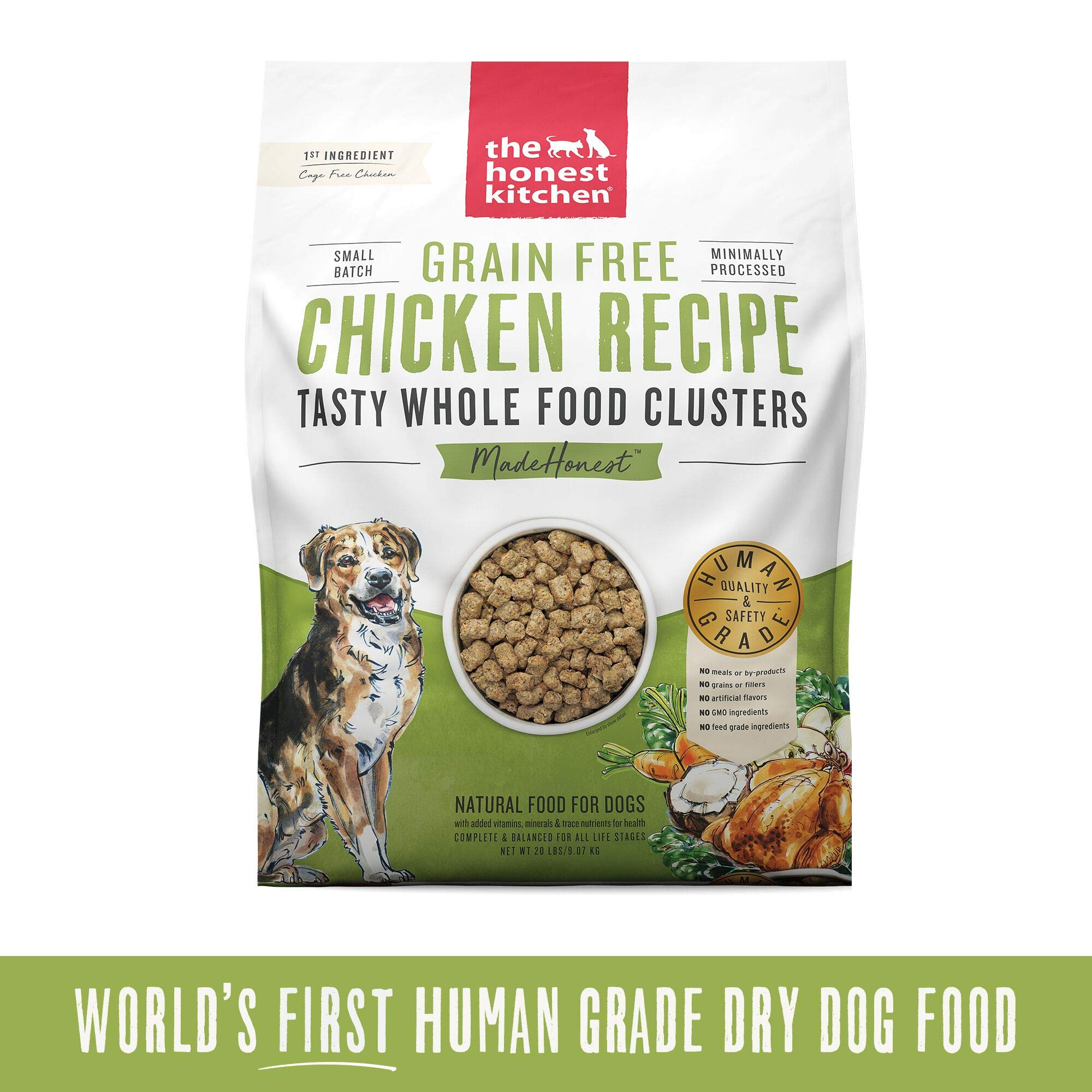The Honest Kitchen Grain Free Whole Food Clusters Dog Food by Honest Kitchen