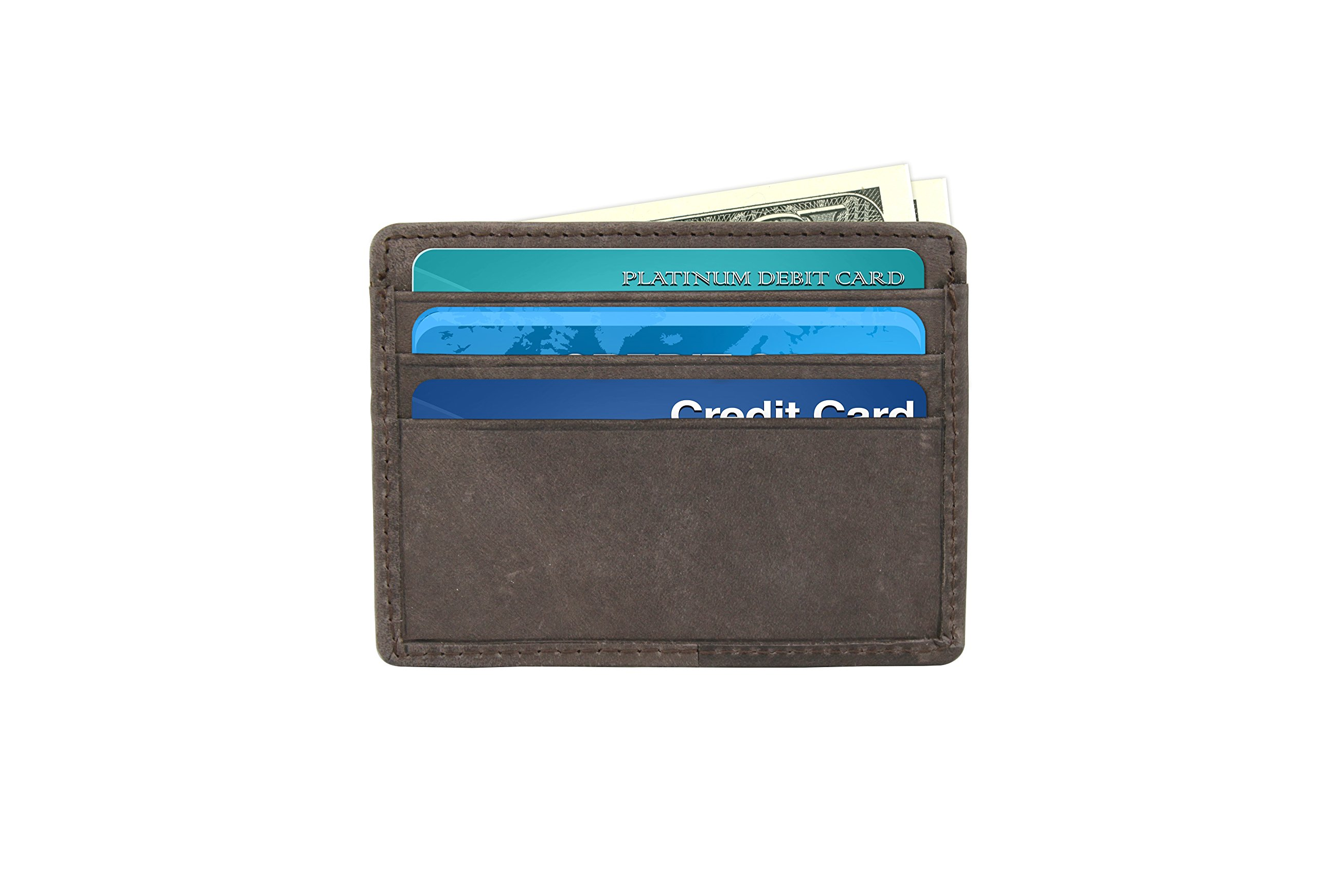 Slim Wallet for Men - Premium Leather - Ultra Thin