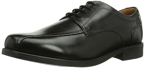 Clarks Beeston Stride - Zapatos de cordones, color Black Leather, talla 44.5