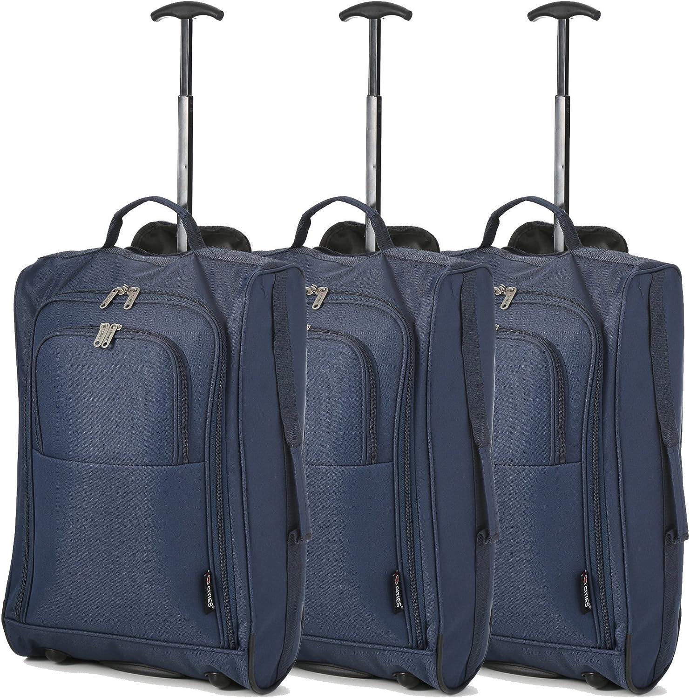 Set de Tres Equipaje de Mano Equipaje de Cabina Maletas Trolley Bolsas de Viaje para Iberia//Vueling Volotea